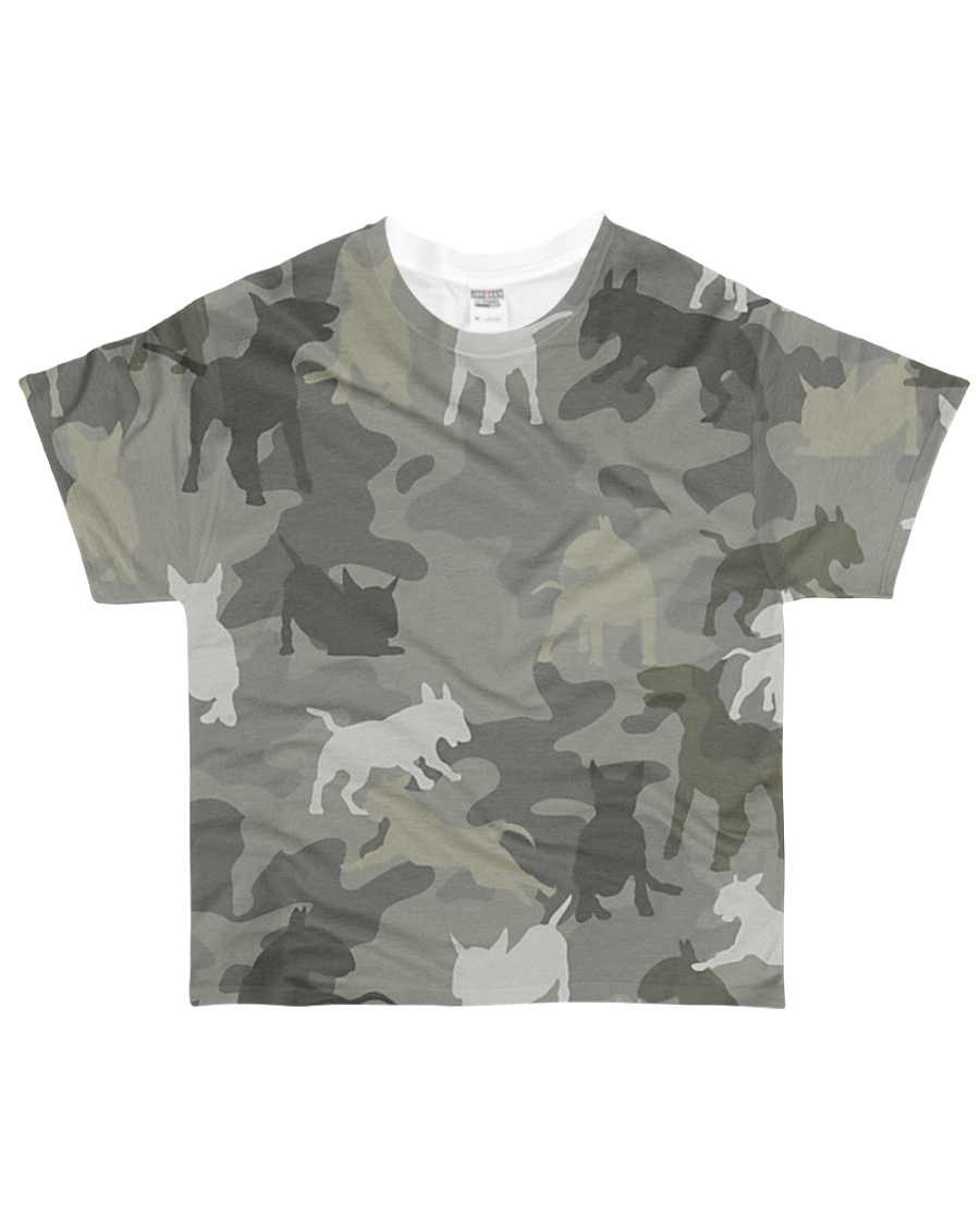 Bull Terrier-camouflage All-over T-Shirt