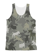 Bull Terrier-camouflage All-over Unisex Tank thumbnail