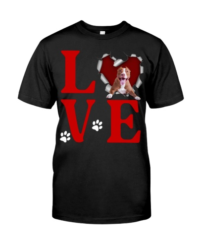 American Pit Bull Terrier -Love Torn Heart