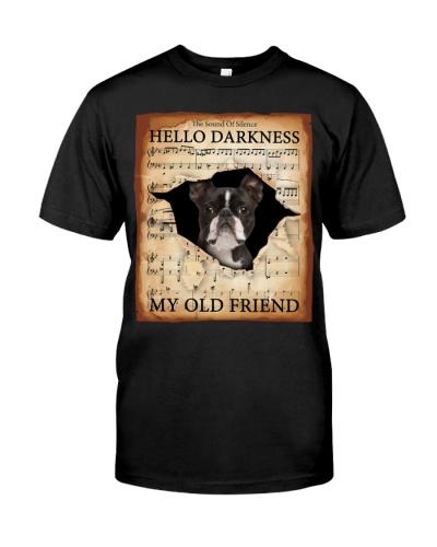 Boston Terrier Hello Darkness