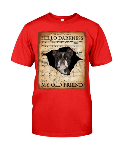 Boston Terrier Hello Darkness