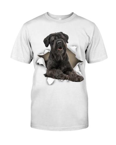 Black Russian Terrier-Torn Paper Effect