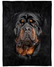 "Rottweiler Face 3D Large Fleece Blanket - 60"" x 80"" front"
