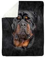 "Rottweiler Face 3D Large Sherpa Fleece Blanket - 60"" x 80"" thumbnail"