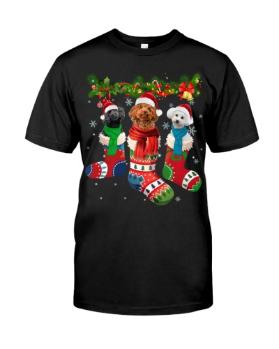 Poodle-Christmas Sock