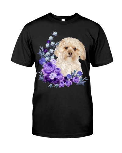 Morkie-Purple Flower Stems