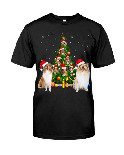 Rough Collie-Christmas Tree-1