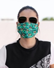Australian Shepherd Summer Leaves FM Cloth face mask aos-face-mask-lifestyle-02