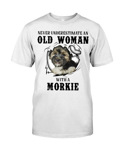 Old Woman With A Morkie