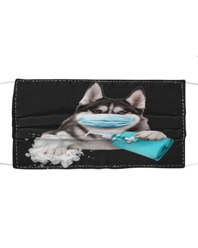 Husky-Face Mask-Wash