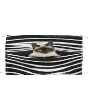 Siamese Cat Stripes FM Cloth face mask front