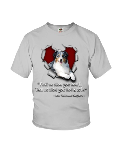 Australian Shepherd-Torn Paper Heart