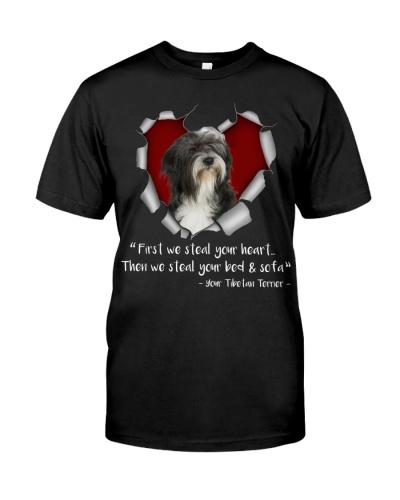 Tibetan Terrier-Torn Paper Heart