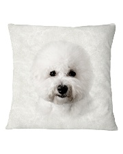 Bichon Frise-Face and Hair Square Pillowcase tile