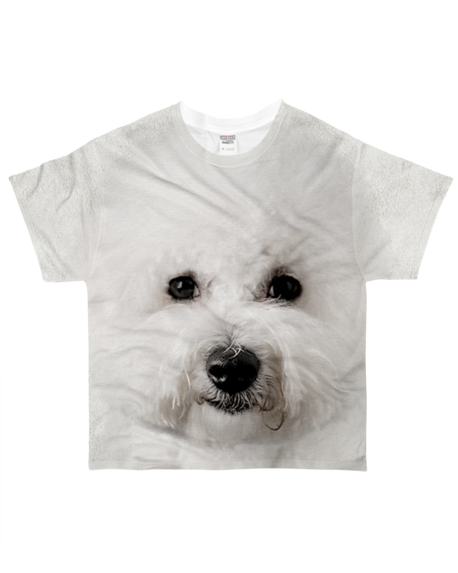 Bichon Frise-Face and Hair All-over T-Shirt