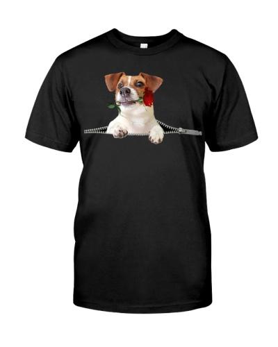 Jack Russell Terrier-Rose-Zipper