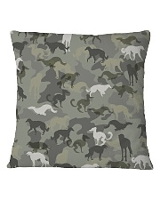 Borzoi-camouflage Square Pillowcase thumbnail