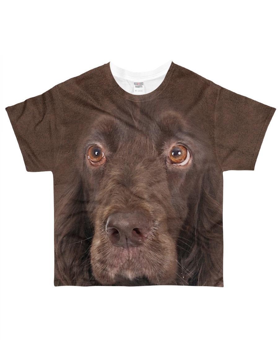 Field Spaniel-Face and Hair All-over T-Shirt