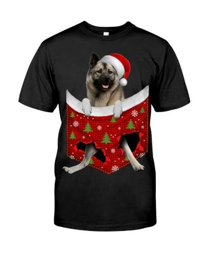 Norwegian Elkhound-Christmas Pocket