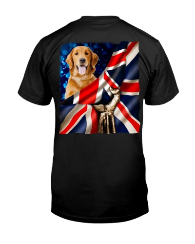 Golden Retriever-The Union Jack