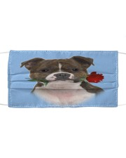 Staffordshire Bull Terrier Rose FM Cloth face mask front