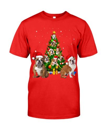 English Bulldog-Christmas Tree-1