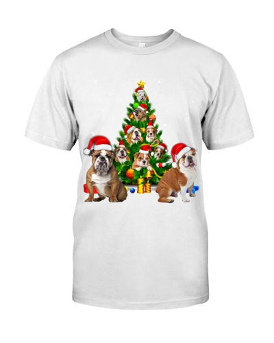 English Bulldog-Christmas Tree-1