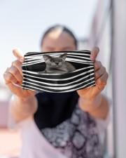 Burmese Cat Stripes FM Cloth face mask aos-face-mask-lifestyle-07