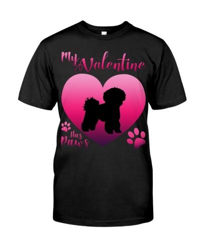 Bichon Frise 2-My Valentine Has Paws