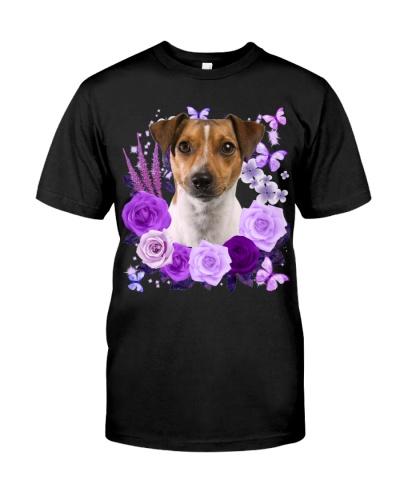 Rat Terrier-Purple Flower