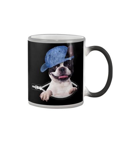 Boston Terrier-Hat-Zipper