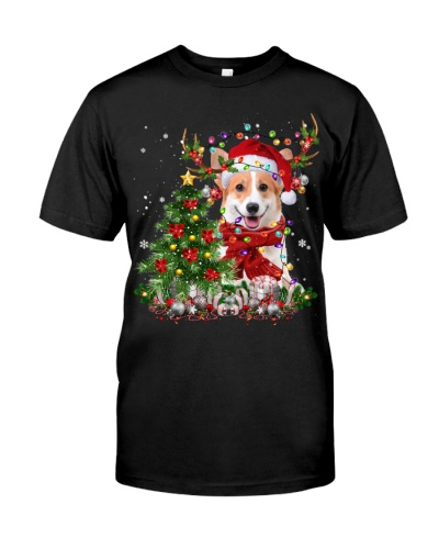 Welsh Corgi-Reindeer-Christmas