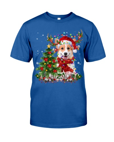 Welsh Corgi-Reindeer-Christmas