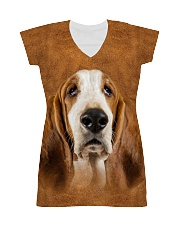 Basset Hound-Face and Hair All-over Dress thumbnail
