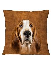 Basset Hound-Face and Hair Square Pillowcase thumbnail