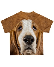 Basset Hound-Face and Hair All-over T-Shirt back