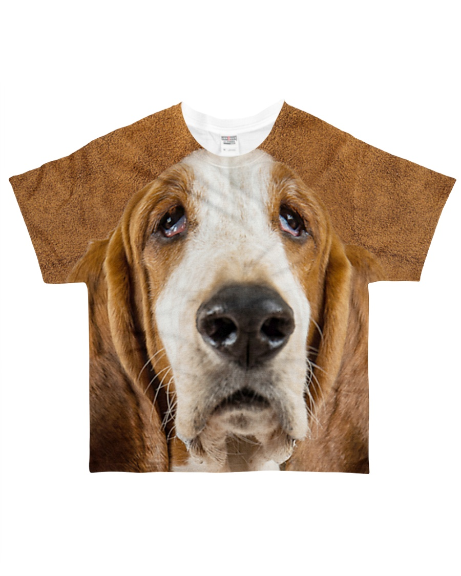 Basset Hound-Face and Hair All-over T-Shirt