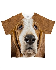 Basset Hound-Face and Hair All-over T-Shirt front