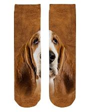 Basset Hound-Face and Hair Crew Length Socks thumbnail