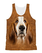 Basset Hound-Face and Hair All-over Unisex Tank thumbnail