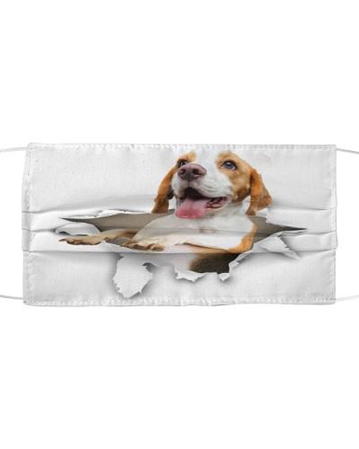 Beagle Torn Paper Face