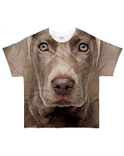 Weimaraner-Face and Hair All-over T-Shirt front