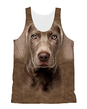 Weimaraner-Face and Hair All-over Unisex Tank thumbnail