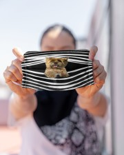 Cairn Terrier Stripes FM Cloth face mask aos-face-mask-lifestyle-07
