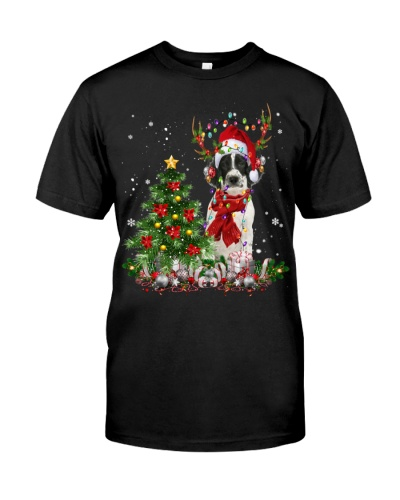 English Springer Spaniel-Reindeer-Christmas