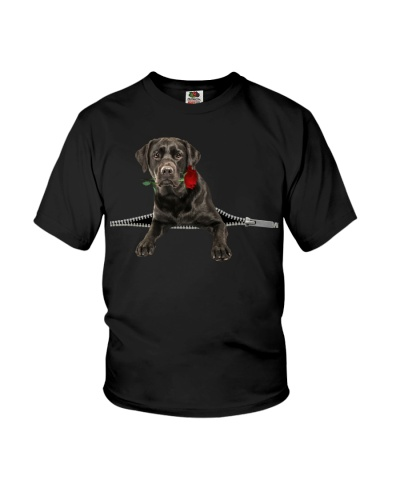 Black Labrador Rose Face