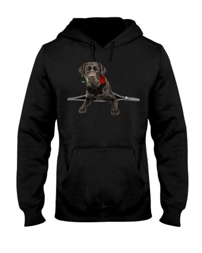 Black Labrador Rose Face