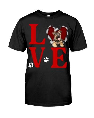 German Shepherd - Love Torn Heart