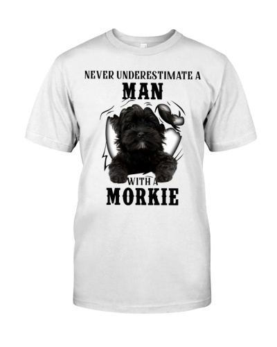Man With A Black Morkie