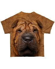 Shar Pei-Face and Hair All-over T-Shirt back